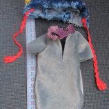 Одежда для куклы пупса шапочка