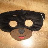 Маска детская Собака Щенок отлично тянется-на резинке и липучке