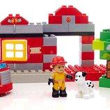 Mega Bloks Конструктор Спасательная пожарная станцияDCK75 Junior Building Blocks Fire Station Rescue