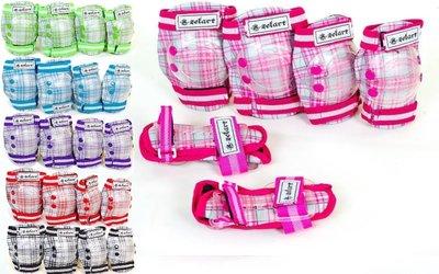 Комплект детской защиты 3в1 Zelart Candy 4678, 6 цветов размер S/М/L 3-7/8-12/13-15 лет