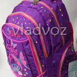 Школьный рюкзак для девочки с пеналом Butterfly бабочка фиолетовый 3401