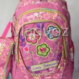 Школьный рюкзак для девочки с пеналом little princess сова цветы розовый 3394
