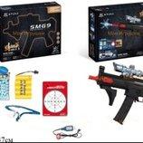 Пистолет Автомат 6803 с водными гелевыми пульками, мишенью, очки аккумулятор игрушечное оружие