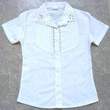 Блузка белая школьная, 6-12 лет, Турция. Две модели.