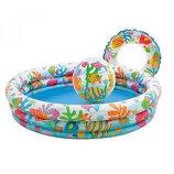 Детский надувной бассейн круг мяч