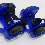 Ролики детские на пятку Flashing Roller светящиеся колеса полиуретан PU Синий,киев