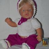 Редкая фирменная кукла куколка Zapf Creation Baby born с волосиками оригинал