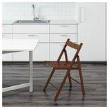 Стул складной, коричневый 602.224.42 Терье Terje Ikea Икеа В наличии