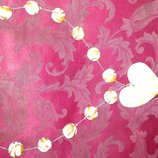 Бусы шарики с сердечком