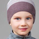 Удобная детская шапка SPECK в фактурную полоску