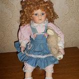 Винтажная фарфоровая кукла, Германия, 45 см.