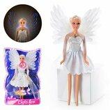 Лялька DEFA 8219 янгол, світло, бліст., 33-21-7 см