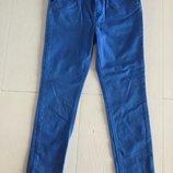 Модные ярко синие брюки Mango размер 140 на 8-10 лет