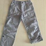Летние модные штанишки коттон/лён бренд H&M размер 128 на 7-8 лет