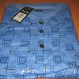 Пижама мужская синяя 100% хлопок размер L 48