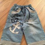 Шорты, капри джинсовые на мальчика 4-6 лет