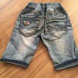 Модные джинсовые шорты на мальчика 4-6 лет