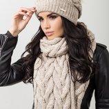 комплект шапка и шарф в разных цветах
