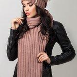 комплект Caskona шапка и шарф в разных цветах