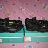 Туфли Clarks Англия оригинал 31-35 размер по стельке 20-22,5см. Кожаные. В идеальном состоянии.Си