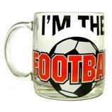 Чашка стеклянная Футбол 380 мл
