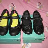Туфли Clarks Англия оригинал 32-33 размер по стельке 20,5-21см. Кожаные. В отличном состоянии.Симпа