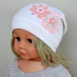 Хлопковая шапка для девочки Ромашки