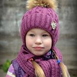 Шапка зимняя для девочки Принцесса
