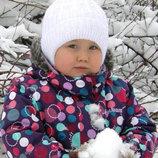 Зимняя шапка для девочки Снежинка