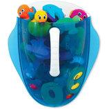 Munchkin органайзер для игрушек в ванную синий Scoop Drain and Store Bath Toy Organizer Blue