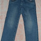 теплые джинсы на девочку на рост 110
