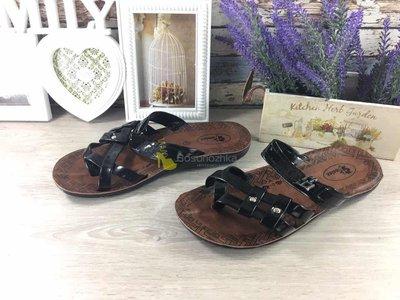 Шлепанцы Finelex черные шлепки купить мужские сандалии вьетнамки тапки