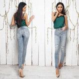 Женские стильные джинсы рванка 085.