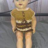 Большая винтажная коллекционная кукла парик старинная антикварная