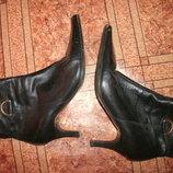 ботинки сапоги кожа