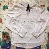 Нарядная белая блузка,школьные блузки,блузка для девочки,блузка длинный рукав