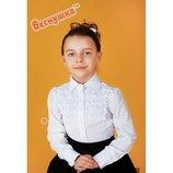 Блуза белая для школьницы 3042-1 Тм Веснушка