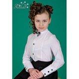 Блуза белая для школьницы 3500 Тм Зиронька