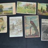 открытые письма почтовые карточки ссср и иностранные тематика природа и пейзажи 7 штук разные