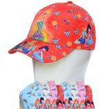 распродажа комплектов кепок по опт цене для детей в размере 52-54 в ассортименте