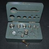 набор разновесы в коробке дерево лгз сд 59 1959 год разные винтаж