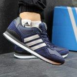 Кроссовки Adidas Neo blue grey, Топ качество