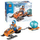 Конструктор Bela полярный транспорт вездеход 50 деталей 10437 аналог Lego City 60032 Арктические аэр