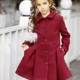 Пальто кашемировое со складками 134-152 р-р