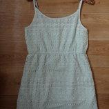 Платье нежно мятного цвета HM