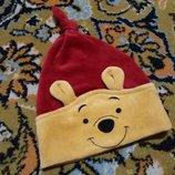 Крутая шапочка Winnie Pooh от Disney на 0-12 мес