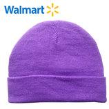 Шапки демисезонные на 7-13 лет Walmart Америка сиреневые однотонные