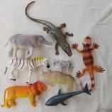 Набор резиновых игрушек, животные, звери, можно для ванной, зоопарк