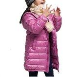 пуховик детский куртка на девочку термо пальто- парка- зимняя