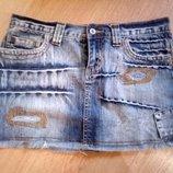 Джинсовая юбка короткая